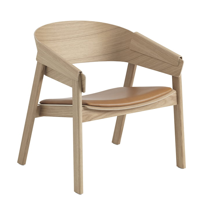 Cover Lounge Chair from Muuto in oak / cognac
