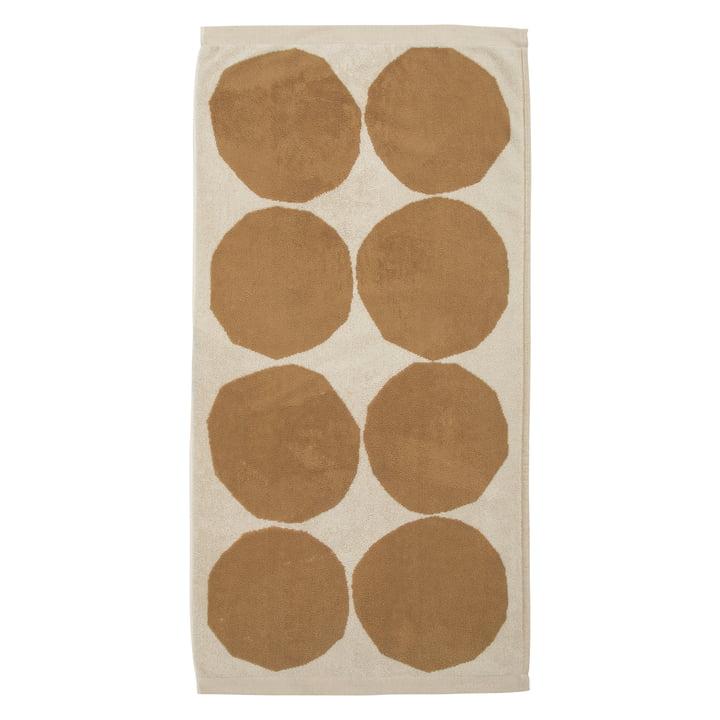 Kivet Towel 50 x 70 cm from Marimekko in cotton white / beige