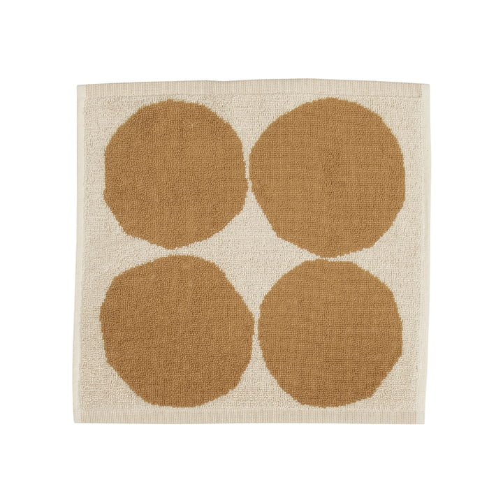 Kivet Mini towel 30 x 30 cm from Marimekko in cotton white / beige