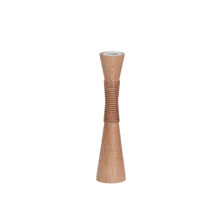 Spinning candle holder medium 20 cm by Andersen Furniture in oak