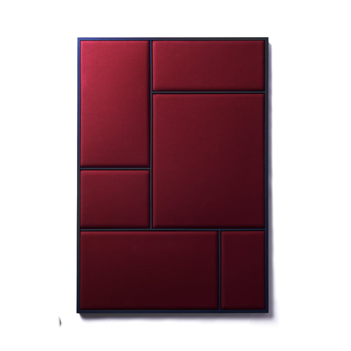 Nouveau Pinboard L, 89 x 62.3 cm, steel blue / rouge noir from Please wait to be seated