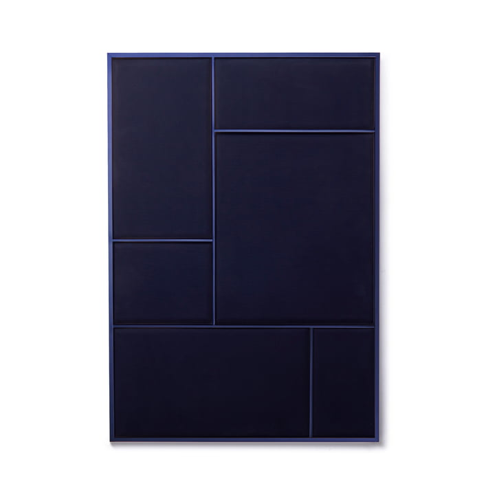 Nouveau Pinboard L, 89 x 62.3 cm, steel blue / navy blue from Please wait to be seated