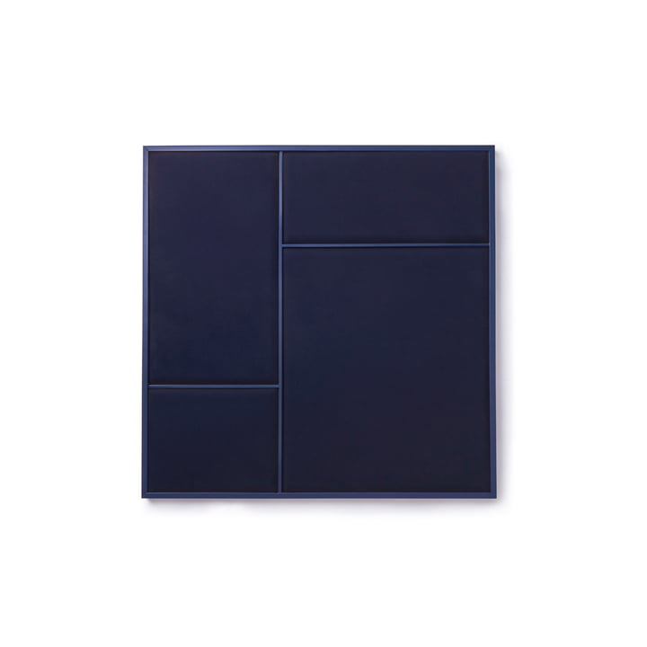 Nouveau Pinboard in M, 62.3 x 62.3 cm, steel blue / navy blue from Please wait to be seated