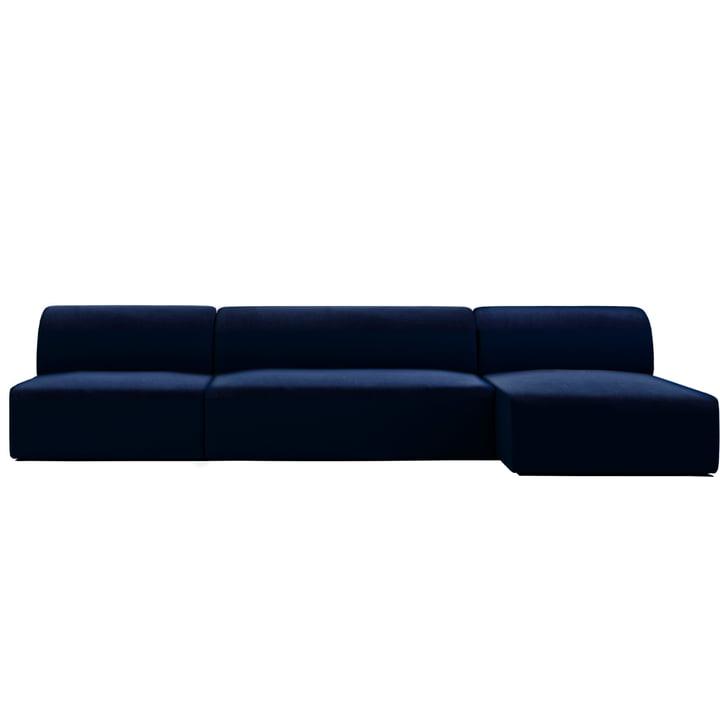 Weber modular sofa design 02 from Objekte unserer Tage in dark blue (City Velvet CA7832/052)