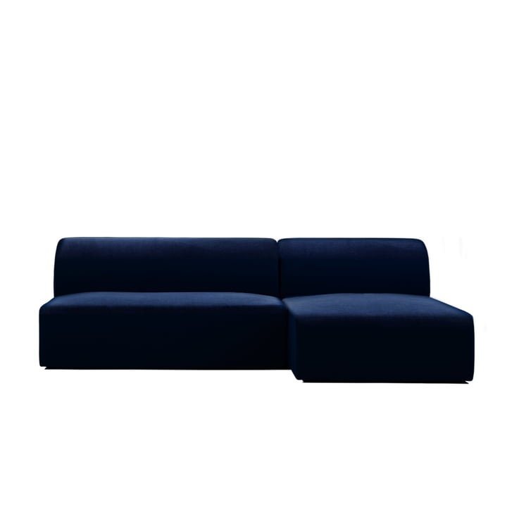 Weber modular sofa design 01 from Objekte unserer Tage in dark blue (City Velvet CA7832/052)