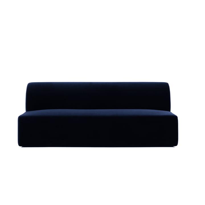 Weaver Familyseat of Objekte unserer Tage in dark blue (City Velvet CA7832/052)