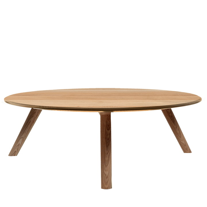 Meyer Coffee table Large H 35 Ø 89 cm from Objekte unserer Tage in waxed oak