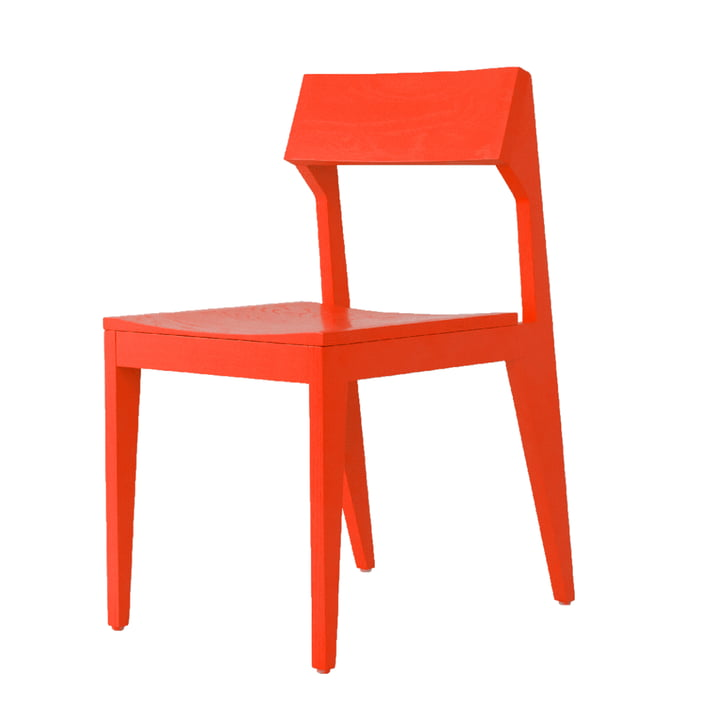 Schulz chair from Objekte unserer Tage in bright red