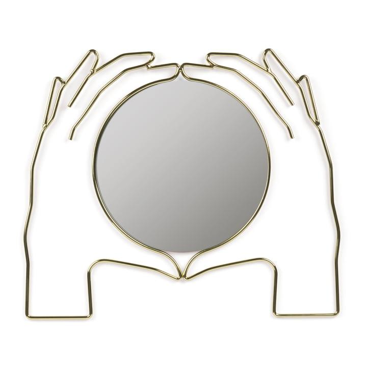 Xéria Wall mirror, gold by Doiy