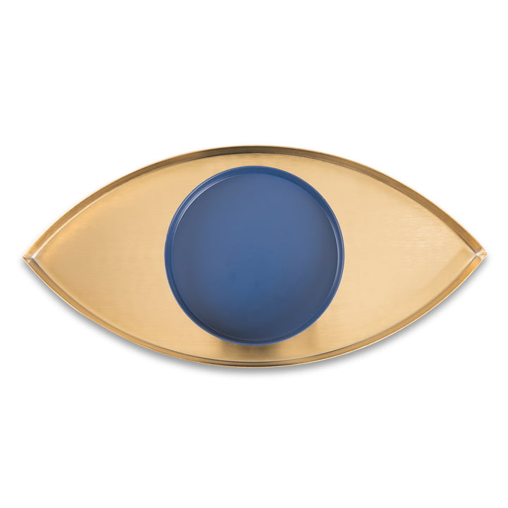 The Eye Tray set of 2, gold / blue from Doiy