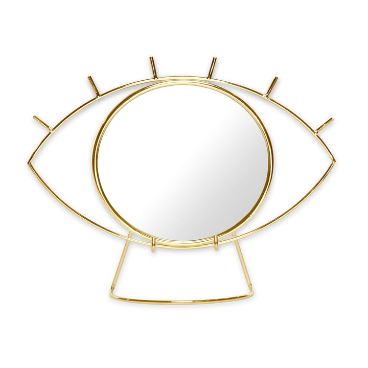 Cyclops Table mirror, gold by Doiy