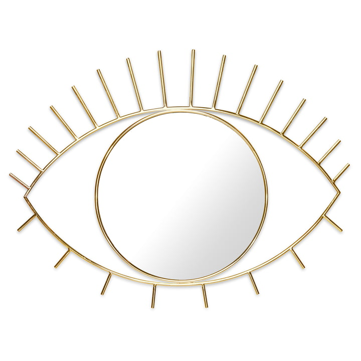 Cyclops Wall mirror L, gold by Doiy