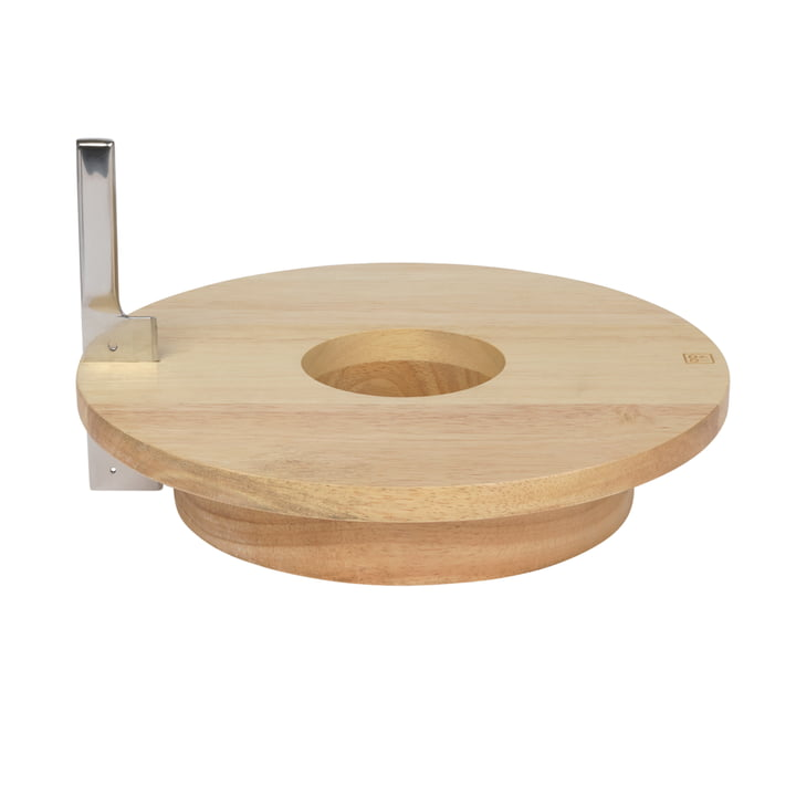 Cheese & Wine Serving tray including knife, rubber wood / stainless steel from Doiy