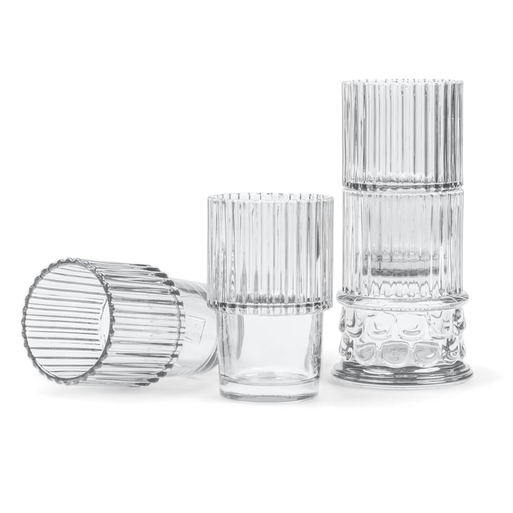 Doiy - Hestia Set of drinking glasses (4 pcs.), transparent