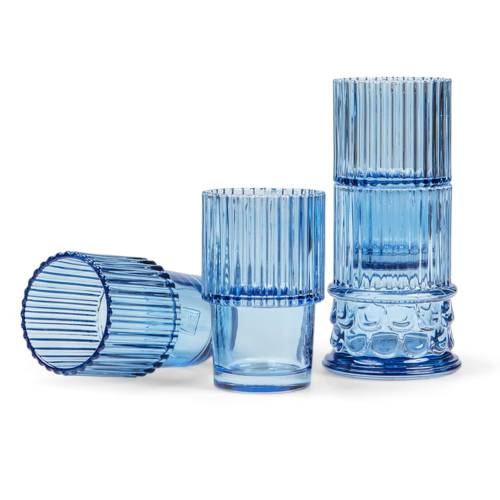 Doiy - Hestia Set of drinking glasses (4 pcs.), blue
