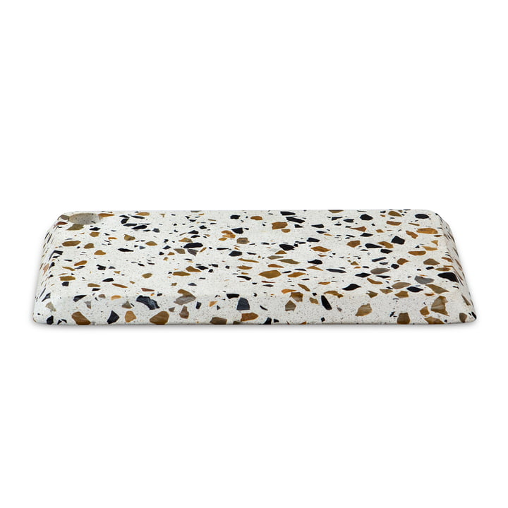 Terrazzo Serving tray M, white from Doiy