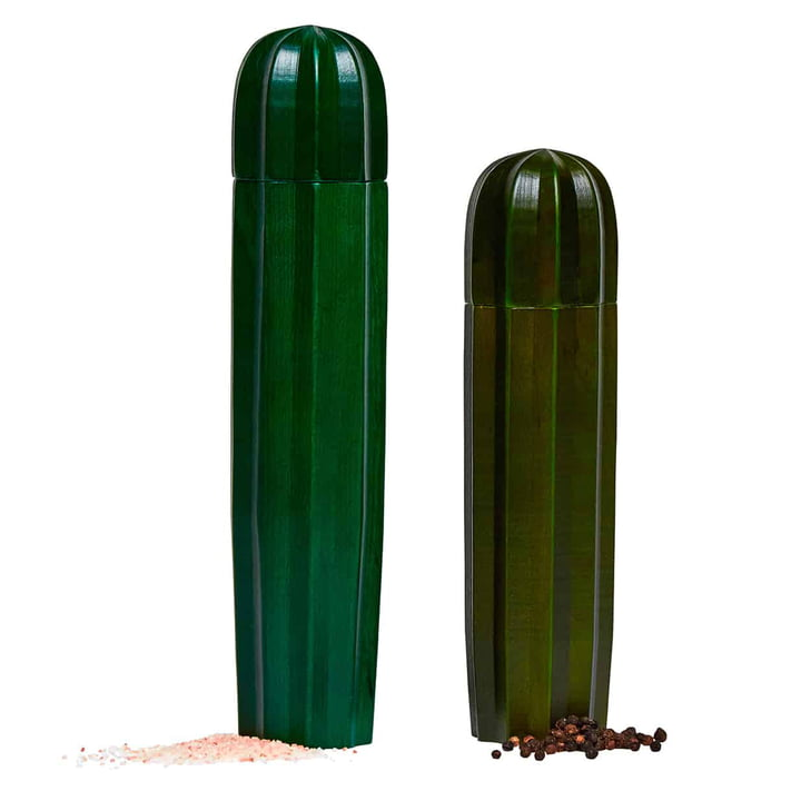 Cacti Salt and pepper mill (set of 2), green from Doiy
