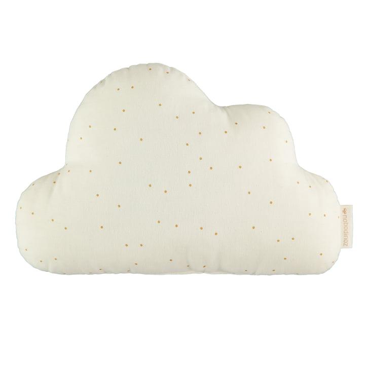 Cloud pillow, 24 x 38 cm, honey sweet dots / natural by Nobodinoz