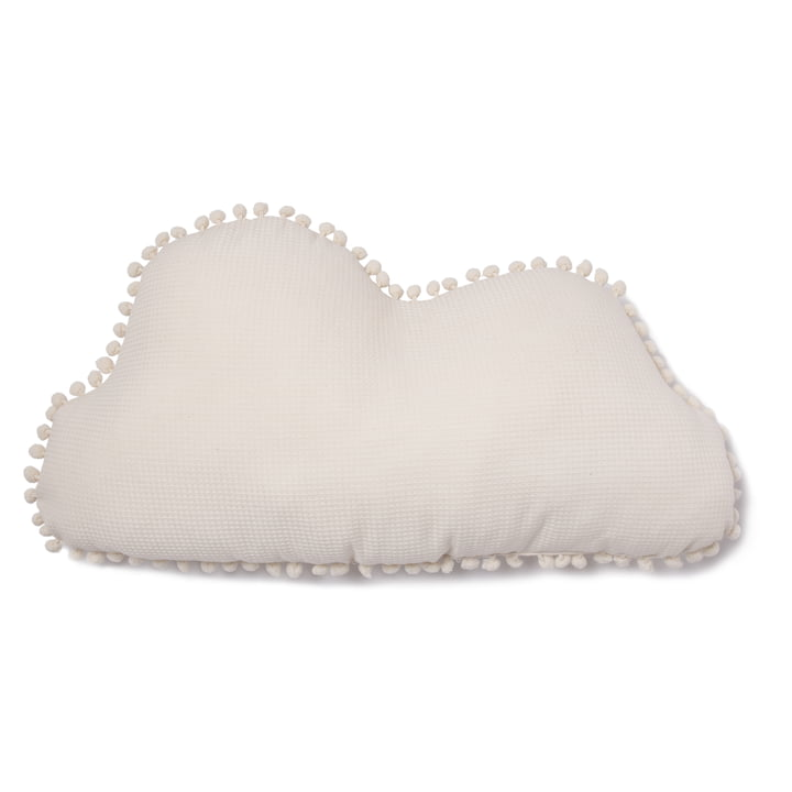 Cloud Marshmallow pillow, 30 x 58 cm, natural by Nobodinoz