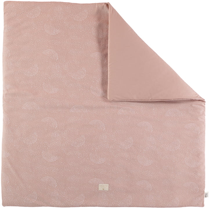Colorado mat, 100 x 100 cm, white bubble / misty pink by Nobodinoz