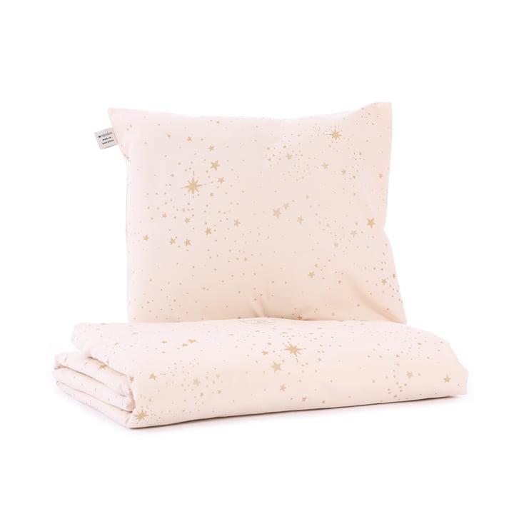 Himalaya baby bedding, 100 x 148 cm, gold stella / dream pink by Nobodinoz