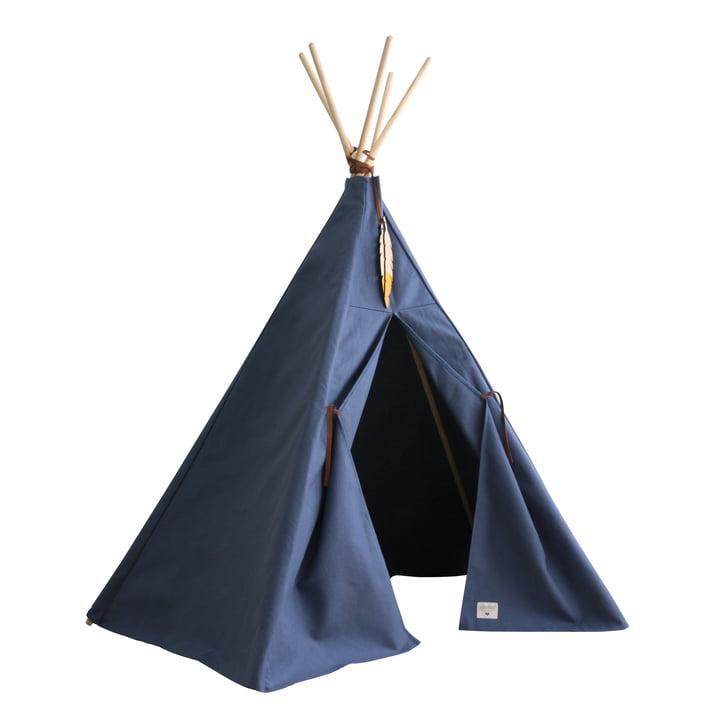 Nevada Tipi -tent, aegean blue by Nobodinoz