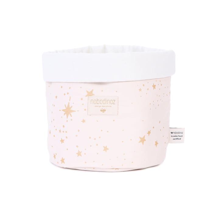 Panda storage basket small, 19 x 15 cm, gold stella / dream pink by Nobodinoz