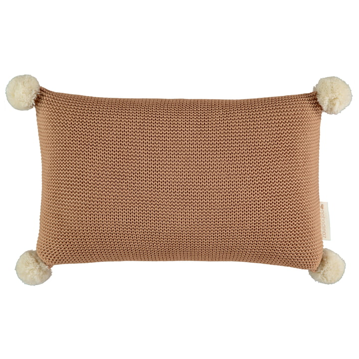 So Natural knitted pillow, 22 x 35 cm, biscuit by Nobodinoz