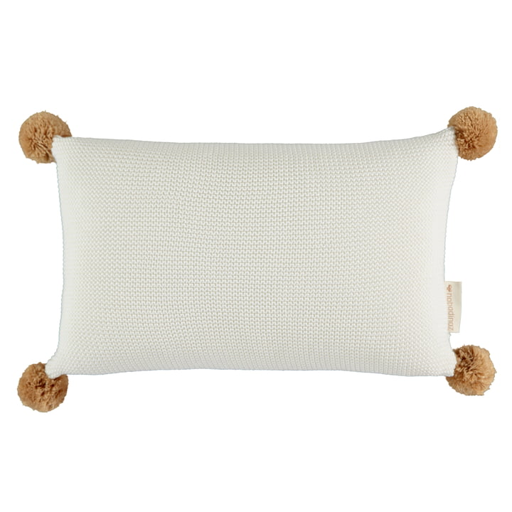 So Natural Knitted Pillow, 22 x 35 cm, milk by Nobodinoz