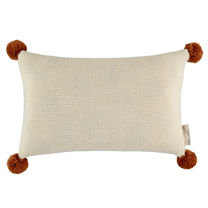 So Natural knitted pillow, 22 x 35 cm, natural by Nobodinoz
