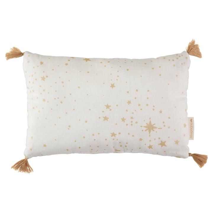 Sublim cushion, 20 x 35 cm, gold stella / white by Nobodinoz