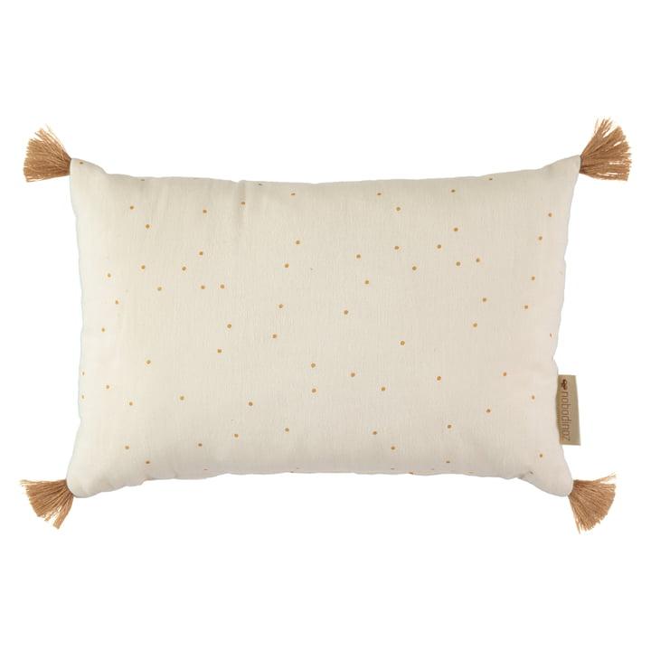 Sublim cushion, 20 x 35 cm, honey sweet dots / natural by Nobodinoz