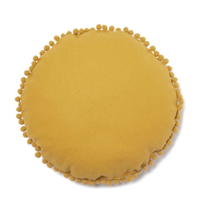 Sunny cushion Ø 37 cm, farniente yellow by Nobodinoz