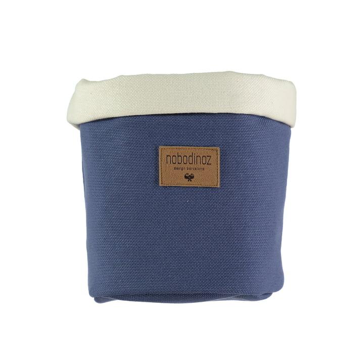 Tango storage basket medium, Ø 19 x H 24 cm, aegean blue by Nobodinoz