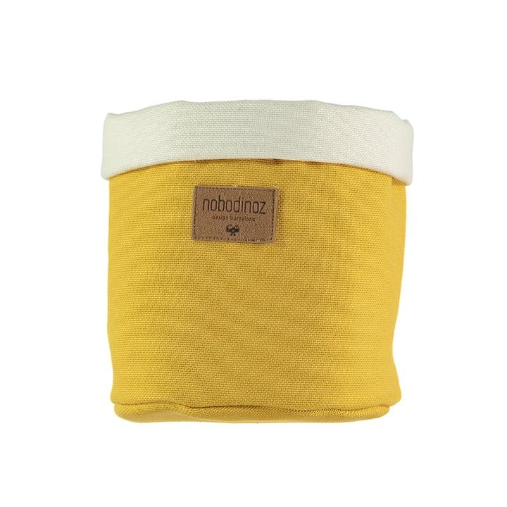 Tango storage basket medium, Ø 19 x H 24 cm, farniente yellow by Nobodinoz
