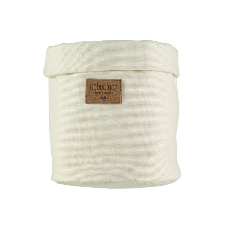 Tango storage basket medium, Ø 19 x H 24 cm, natural by Nobodinoz