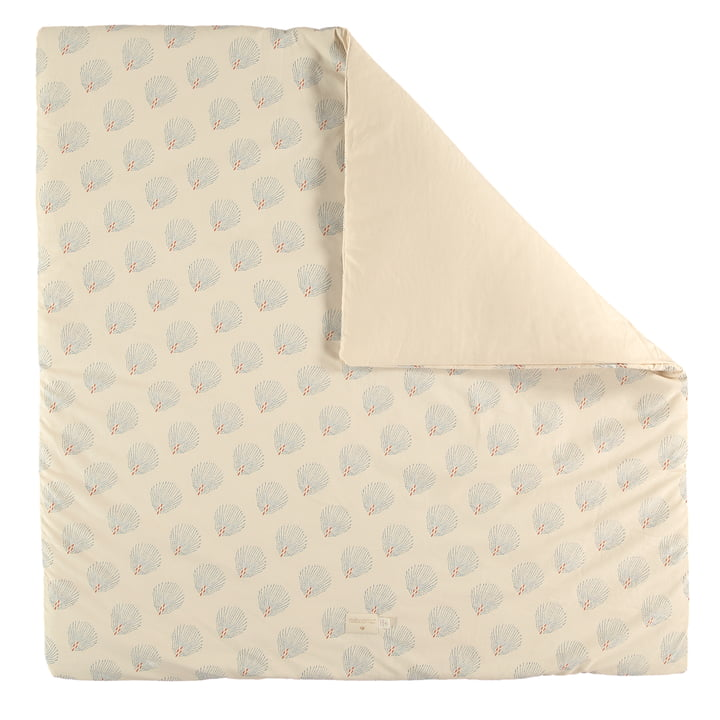 Colorado mat, 100 x 100 cm, blue gatsby / cream by Nobodinoz