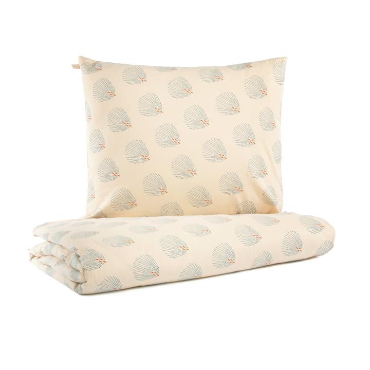Himalaya baby bedding, 100 x 148 cm, blue gatsby / cream by Nobodinoz