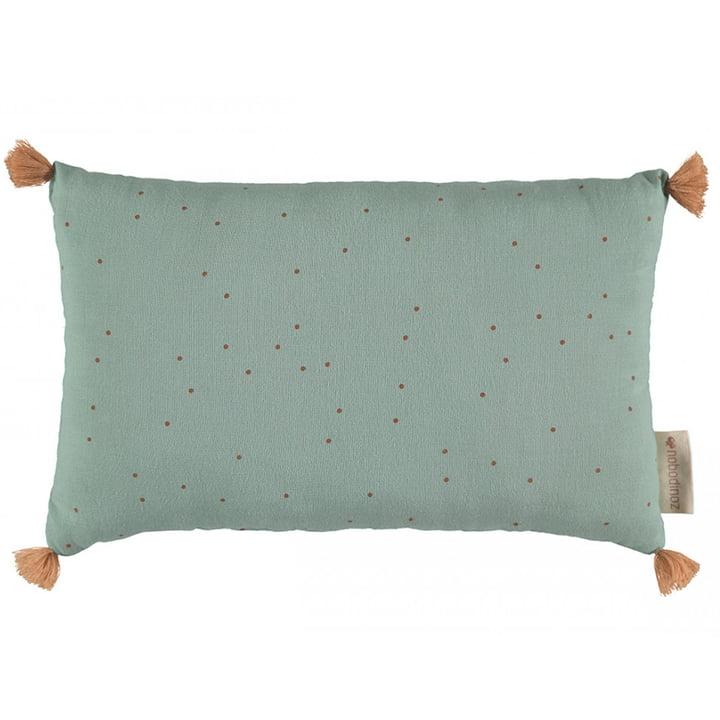 Sublim cushion, 20 x 35 cm, toffee sweet dots / eden green by Nobodinoz