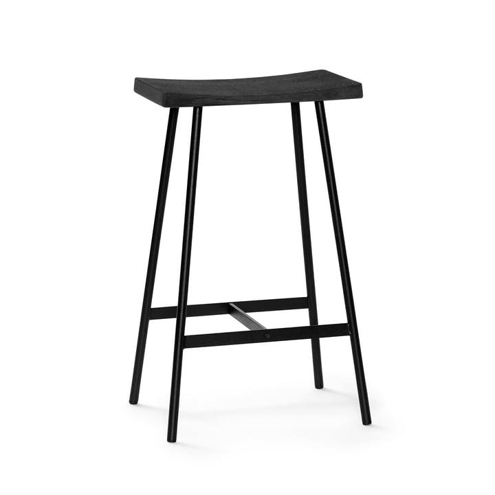 HC2 bar stool H 65 cm by Andersen Furniture in black oak / black steel