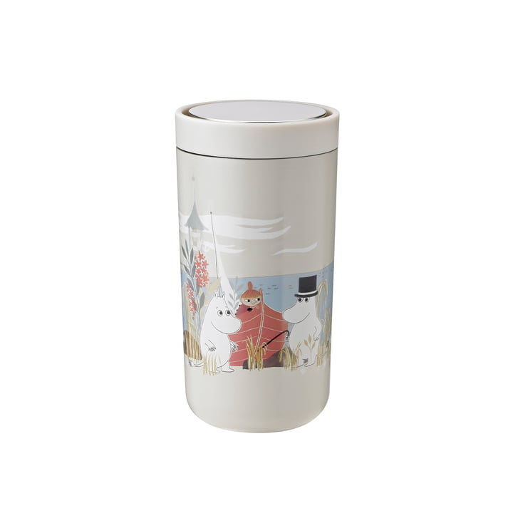 To Go Click Moomin 0.2 l double-walled from Stelton in soft sand