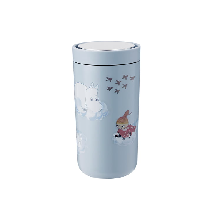 To Go Click Moomin 0.2 l double-walled from Stelton in soft cloud