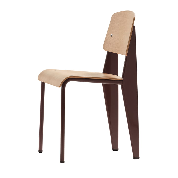 Prouvé standard chair by Vitra in natural oak / chocolate