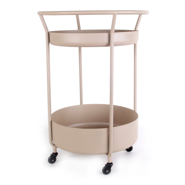 Corona Serving trolley, quartz from XLBoom