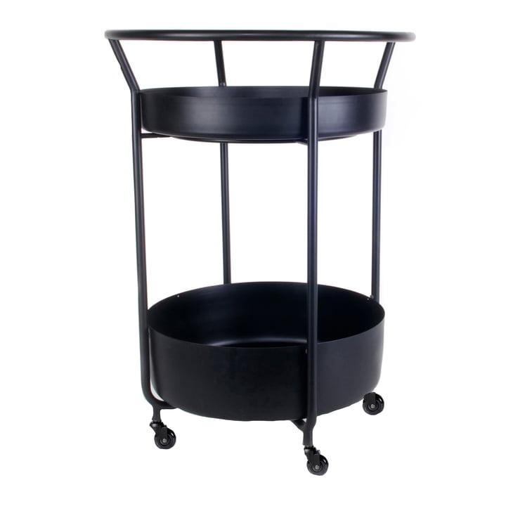 Corona Serving trolley, black by XLBoom