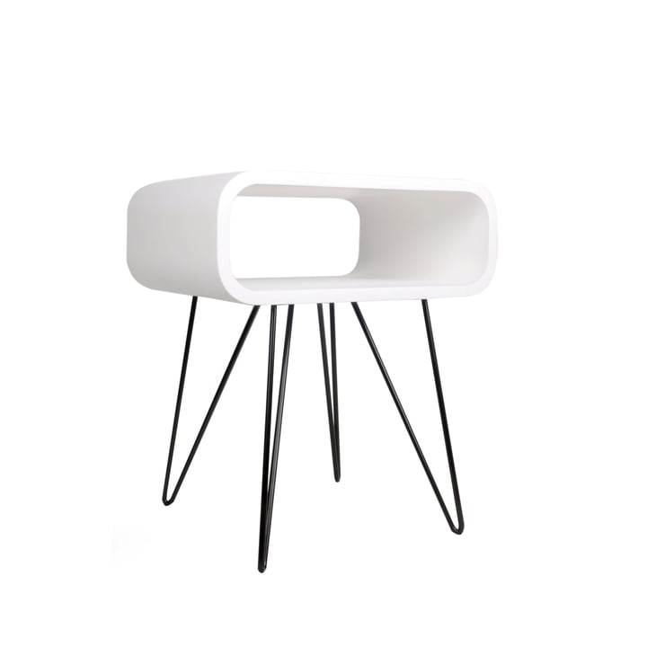 Metro End Table , white / black from XLBoom