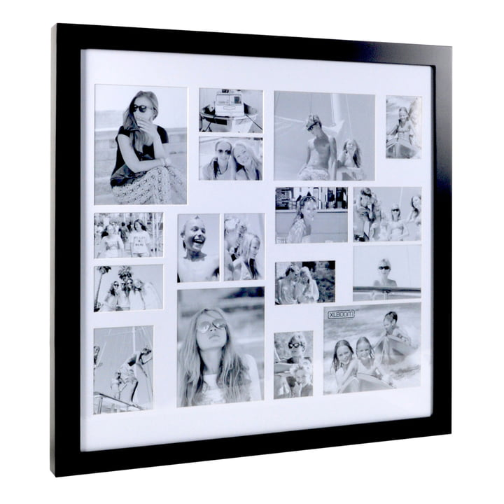 Multi Photo frame for 17 pictures, coffee bean by XLBoom