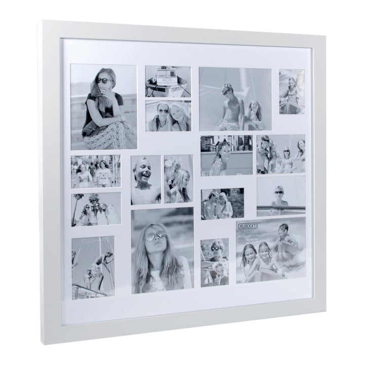 Multi Photo frame for 17 pictures, white from XLBoom