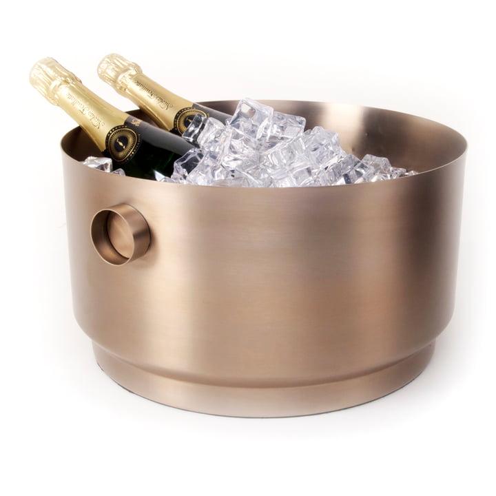 Rondo Party Bucket Bottle cooler, copper steel from XLBoom