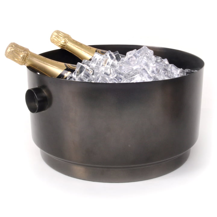 Rondo Party Bucket Bottle cooler, steel black from XLBoom